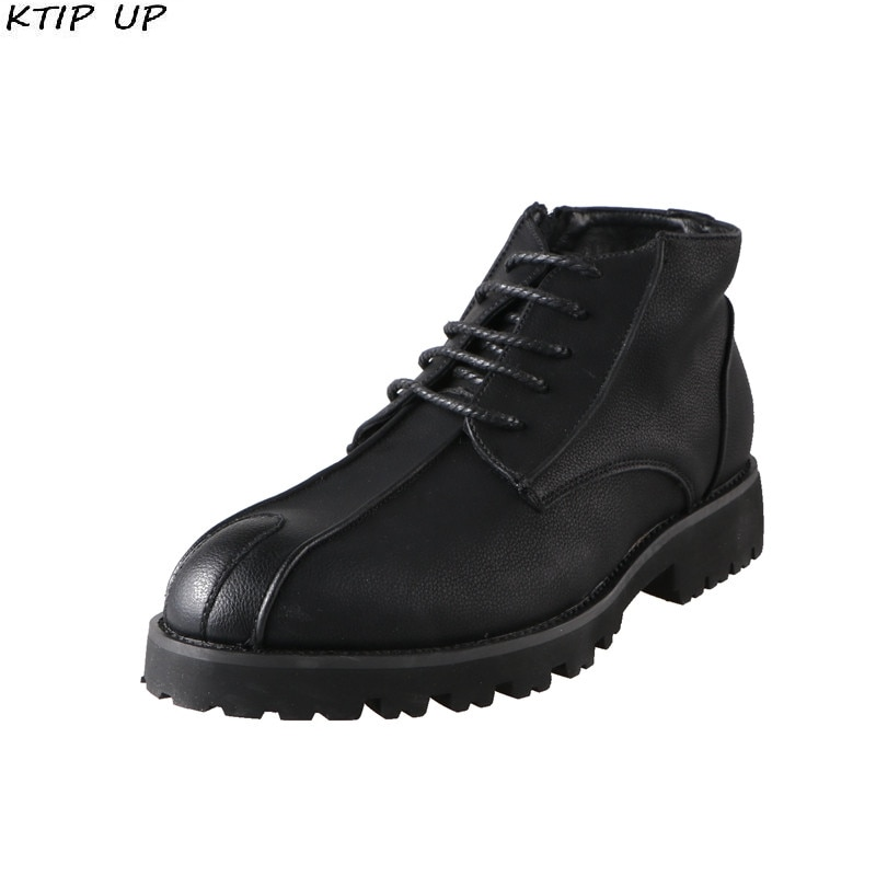 Spring Autumn Boots Men Retro Classic High Quality Black Casual Leather Pointed Platform Ankle For Shoes