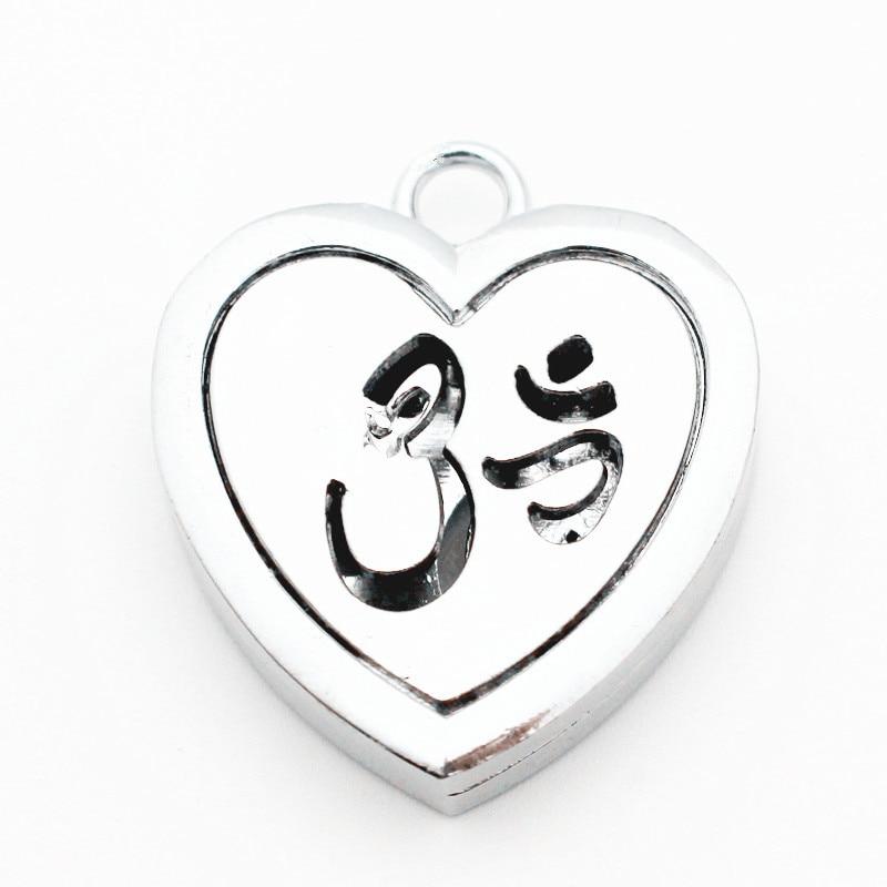 Procesamiento barato 5 unids/lote corazón 30mm aleación de plata aromaterapia Perfume de medallones Essentil aceite difusor medallón colgante collar