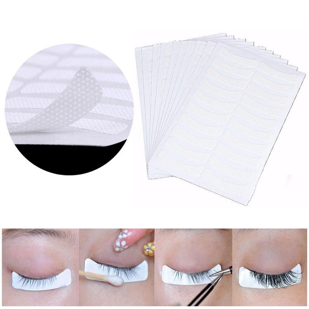 100 Uds parches de papel para pestañas injertadas pegatina mujeres debajo de los ojos almohadillas seguras pestañas injerto almohadilla pegatinas para puntas