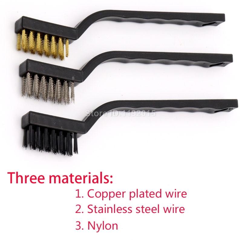 3 stks mini roestvrij staal verwijderen roest borstels messing - Schurende gereedschappen - Foto 2