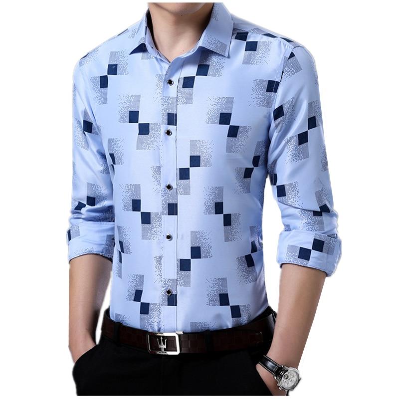 2018 Summer Thin Men's Long-sleeved Plaid Shirts S M L XL 2XL 3XL 4XL Fashion Business Man Casual Shirt Slender Cool Comfortable