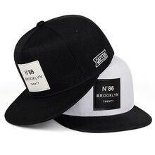Mode Männer Frauen BROOKLYN Buchstaben baumwolle einstellbare Baseball Cap Leder label N86 Hip Hop Caps Sonnenhut Unisex Snapback Hüte