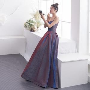 New Arrive 2021 Fashion Evening Dress Women Banquet Party Dress Sweetheart Pocket Side Long Slim Aline Backless Spaghetti Strap