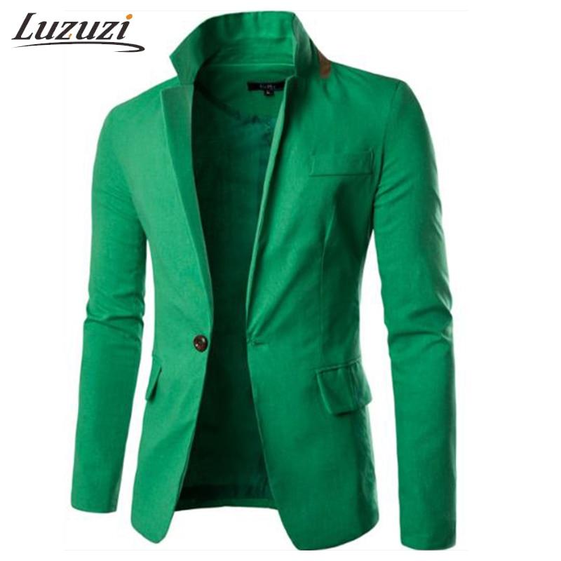 Suit Jacket Casual Slim Fit Solid Mens Tweed Jacket MenS Jacket And Suits Dress Blazer Masculino Colbert Jasje Mannen WS2582