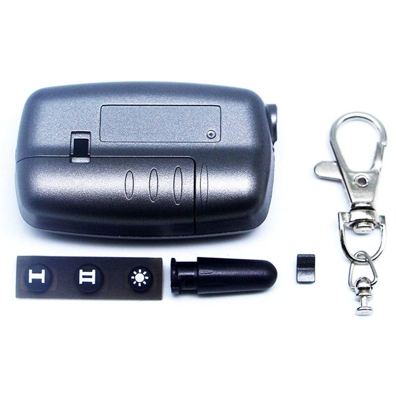 A9 caso chaveiro para starline a9 a6 a8 a4 2 vias sistema de alarme carro lcd controle remoto chave corrente fob