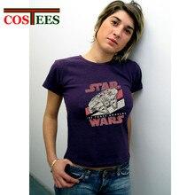 Vintage streetwear Fashion star wars T shirt women femme Darth Vader tshirt JEDI T-Shirt The force awaken falcon tshirt camiseta