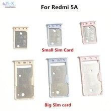 Xiaomi redmi 5a를 위해 큰 작은 sim 카드 쟁반 홀더 마이크로 sd 카드 홀더 구멍 접합기 hongmi 5a
