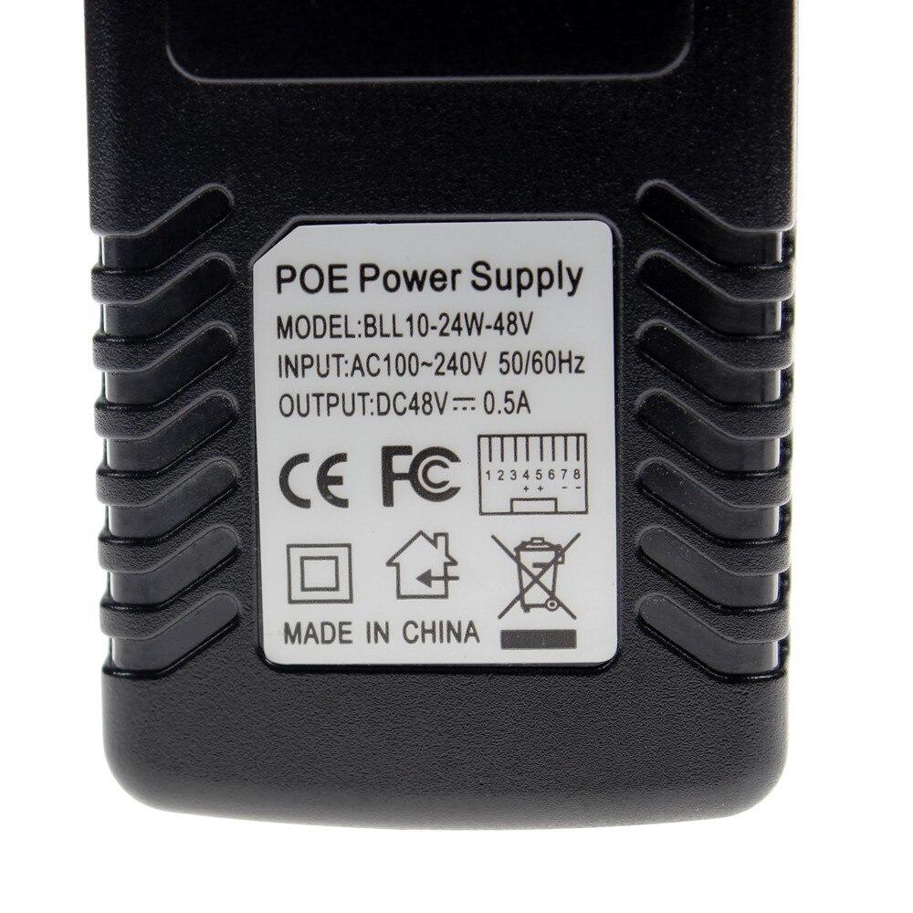 CCTV POE Injector Ethernet Injector Adapter EU/UK/US Optional DC12V/DC48V Power Adapter For POE IP Camera enlarge
