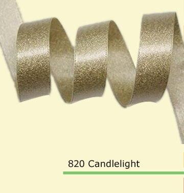 1/4 pulgadas (6mm) Cintas de satén con Purina dorada 35 colores en stock