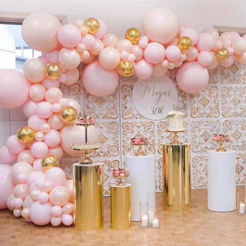 Soporte de pilar de cilindro de mesa de exhibición de favores de boda metal dorado soporte de pastel alto bandeja de pastel de plata soporte de metal de artesanía de postre de flores