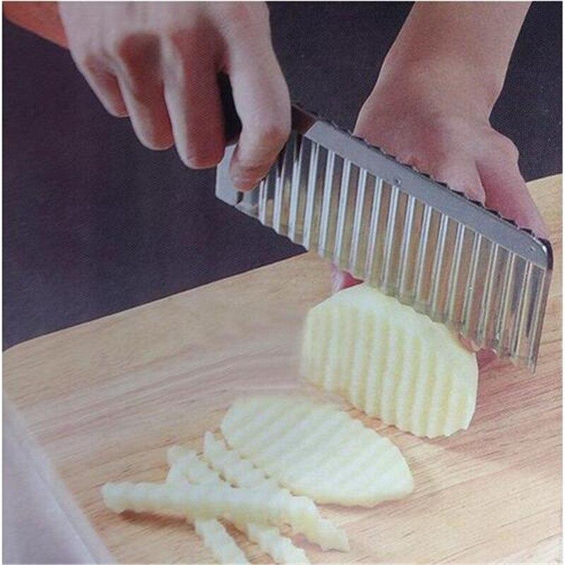 New DIY Potato Fruit  Shredders Slicers Stainless Steel Cut Potato Waves Crinkle Shape Vegetable Chips Kitchen essential Objects