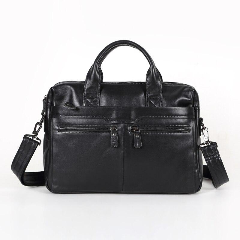 Nesitu تعزيز ريال الأولى طبقة جلد طبيعي حقيبة محفظة الرجال رسول حقائب # M7122