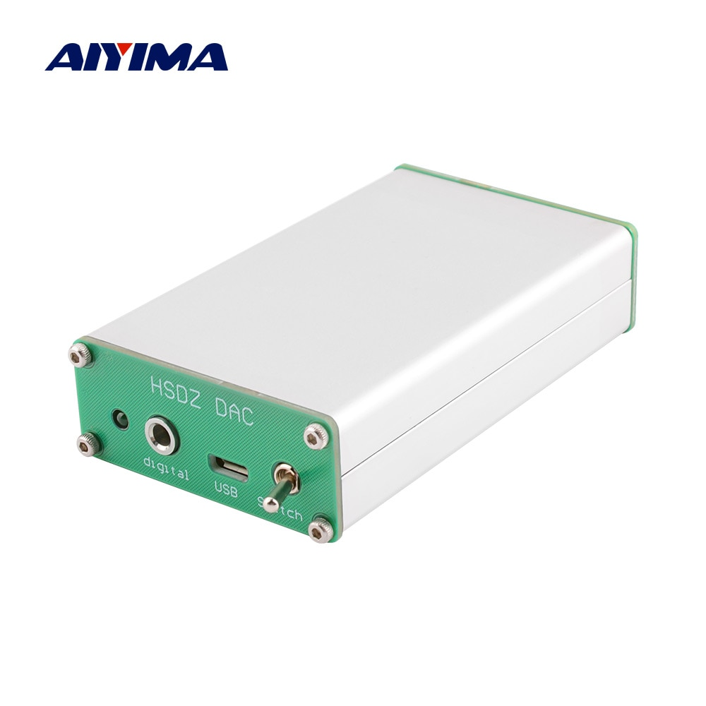 Decodificador de Audio AIYIMA PCM2706 DAC Hifi tarjeta de sonido USB decodificación TDA1305 amplificador de auriculares Amp para altavoz sonido Home Theater DIY