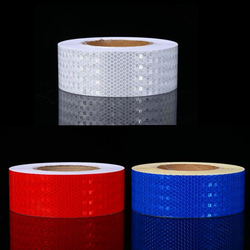 50mm X10m Reflective Bicycle Stickers Adhesive Tape For Bike Safety White Red Yellow Reflective Bike Stickers