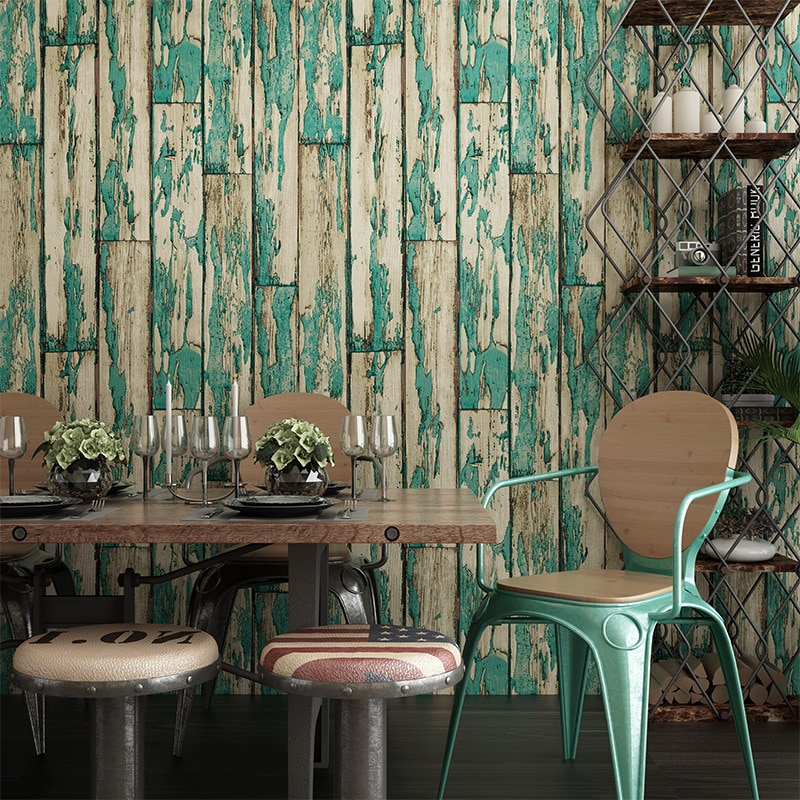 Papel de pared beibehang de imitación de grano de madera Retro papel pintado de suelo 3d para pared papel tapiz 3d papel tapiz papeles tapiz decoración del hogar