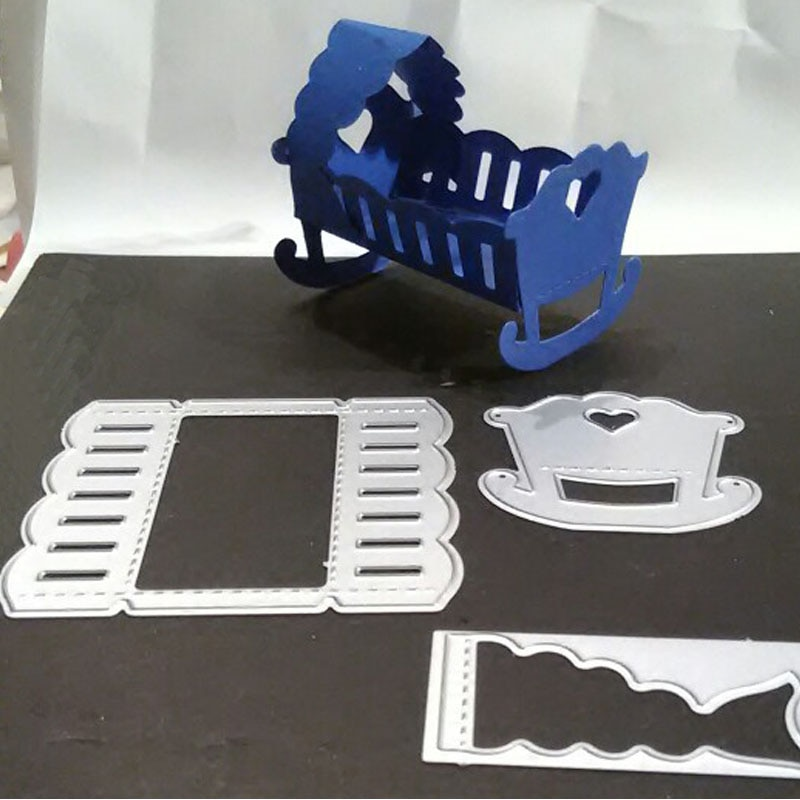 metal cutting dies cut die mold 3D love baby crib decoration Scrapbook paper craft knife mould blade punch stencils dies