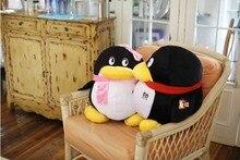 Mignon pingouin poupée environ 30 cm amour pingouins doux en peluche, jeter oreiller une paire/2 pièces, décoration de la maison cadeau danniversaire h2948