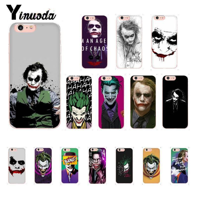 Yinuoda, Joker, Heath Ledger, arco con patrón DIY, funda de lujo para iPhone 5 5Sx 6 7 7plus 8 8Plus X XS MAX XR 11 11pro 11promax
