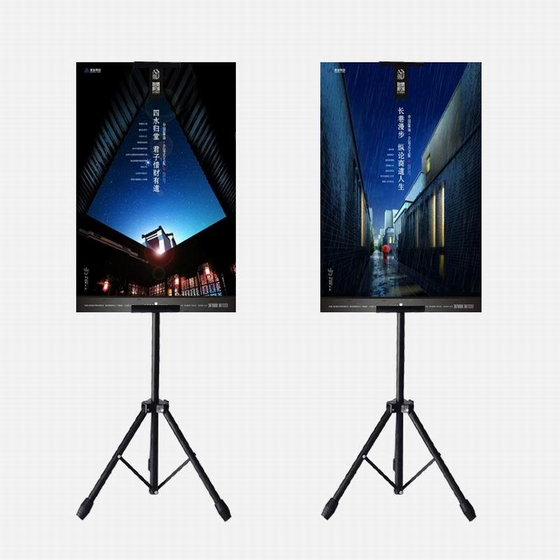 Conjuntos De Metal Tripé Bedframe 10 Banner Pendurado Up Display Titular Telescópica Carrinho do Poster De Superfície de Cozedura Polonês Maçante