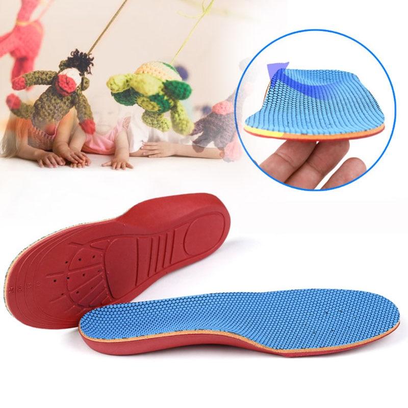 USHINE EU19-35 синие спортивные стельки для ног, детские ортопедические стельки для поддержки арки, ортопедические стельки для детей