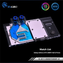 Bykski couverture complète GPU bloc deau pour GALAX Geforce GTX 1080Ti temple de la renommée carte graphique N-GY1080TIHOF-X