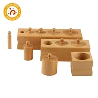 montessori toy wooden cylinder blocks toys sensory for 0 3 years kids preschool games educational
