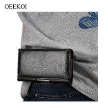 OEEKOI housse de ceinture en cuir véritable pour Oukitel U25 Pro/U23/C12 Pro/OK6000 Plus/K5/K6/K8000/Mix 2/K5000/K3/U22
