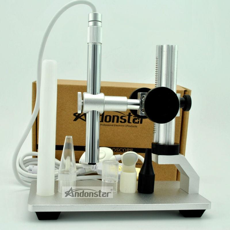 Microscopio DIGITAL USB V160 Andonstar, microscopio digital usb, reparación de cámara de vídeo de 2MP con nuevo soporte de metal