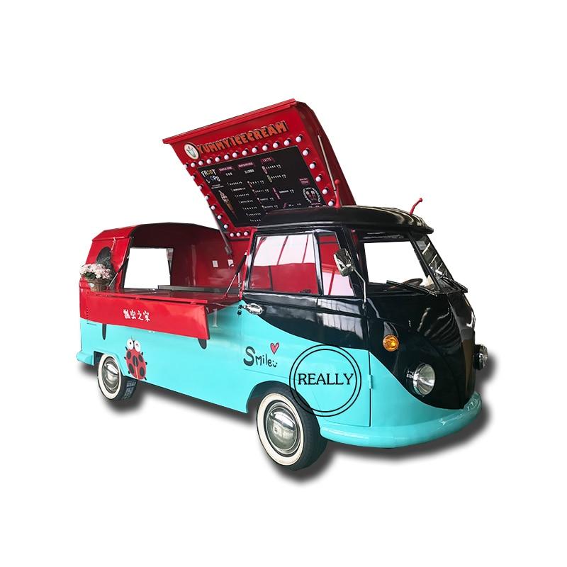 Camión de comida móvil, furgoneta de comida, carro crepé de comida, venta de kiosko de sándwich eléctrico tuk