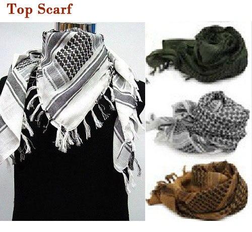 USS SWAT árabe SAS Shemagh Kafiya bufanda máscara hombres mujeres bufanda verde + caqui + blanco bufanda larga chal envío gratis