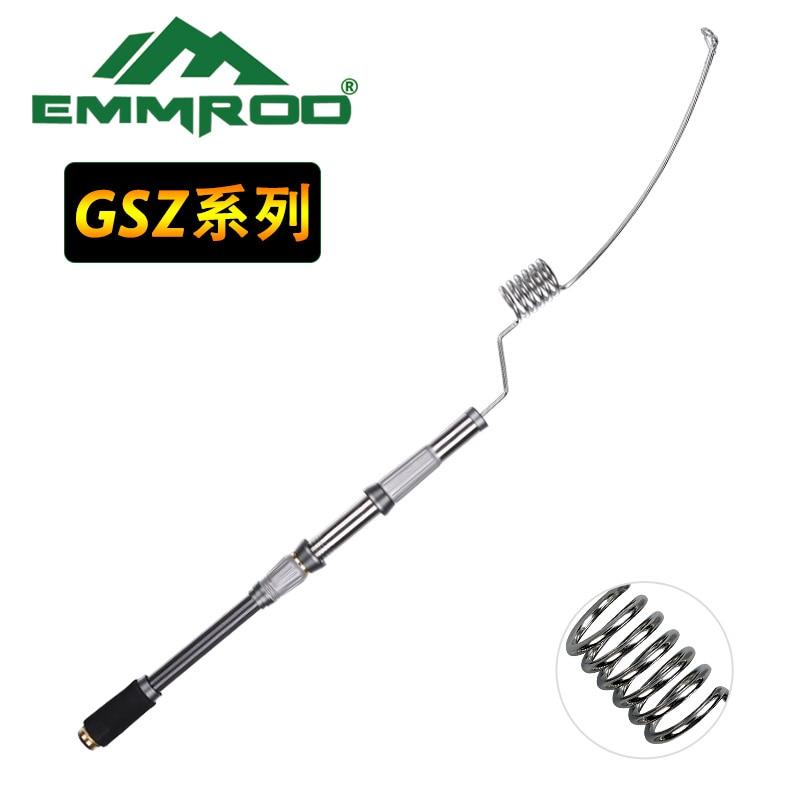 EMMROD Mini Portable Pocket 72CM stainless steel Sea Fishing Rod ultra short Ice Raft Fishing Free Shipping enlarge