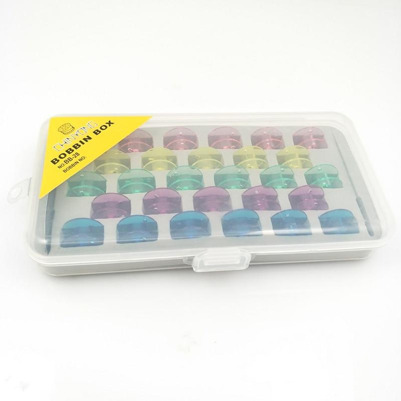 Коробка для бобин Органайзер с 28 бобины с резьбой с 1 шт. Игла DIY Threader 5BB5326
