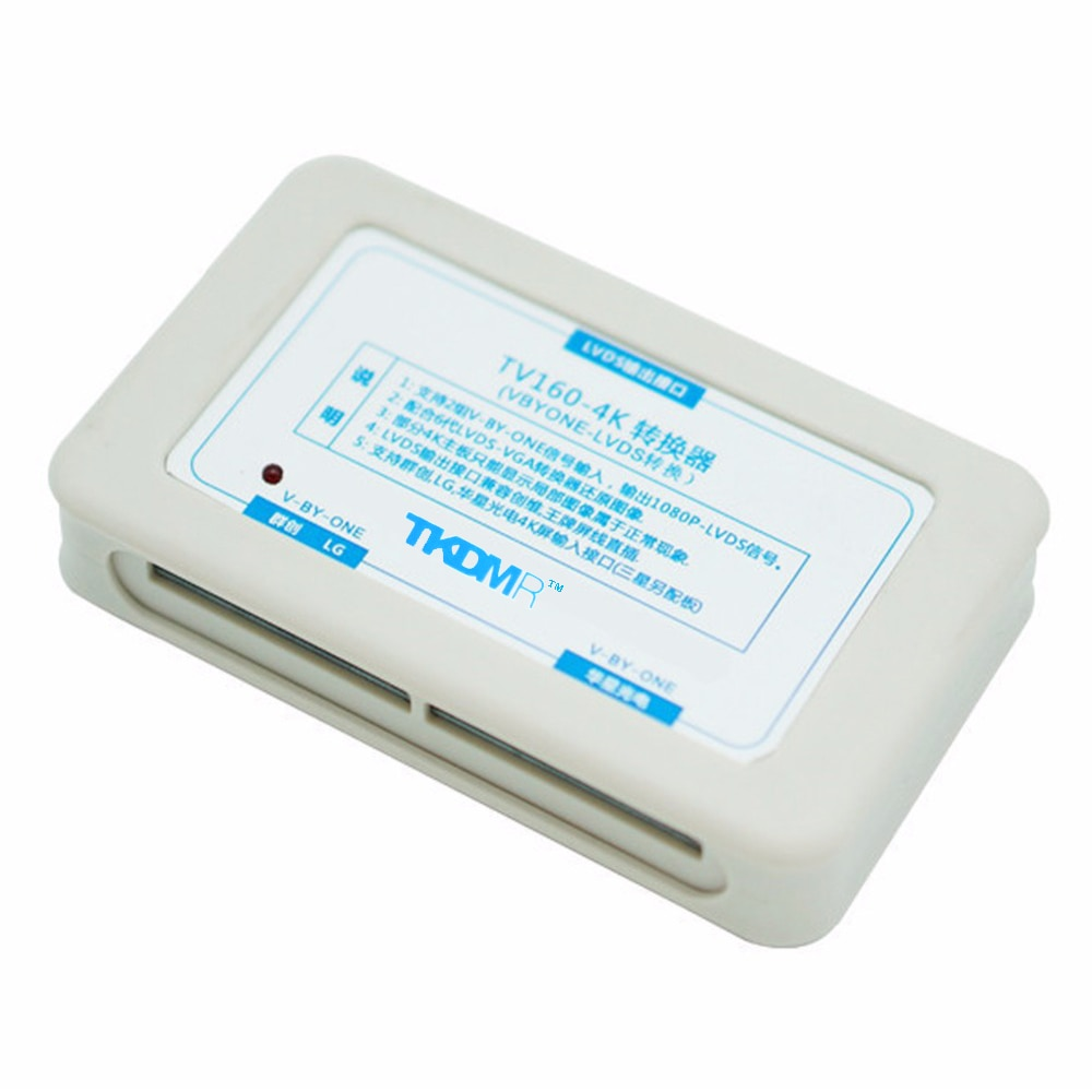 TKDMR  Newest 6TH TV160 LVDS-VGA (LED/LCD)TV Mainboard Tester Tools Full HD 4K Converter Free Shipping