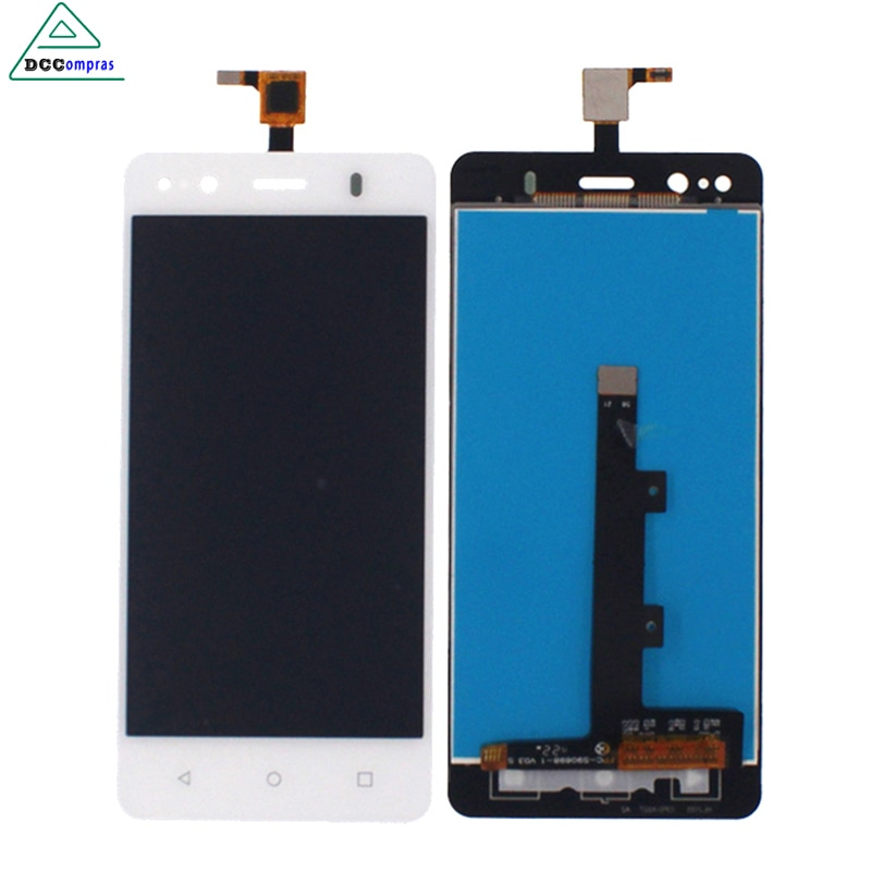 Dccompras High Quality For BQ Aquaris M4.5 4.5 LCD Display Touch Screen Digitizer White Color Mobile
