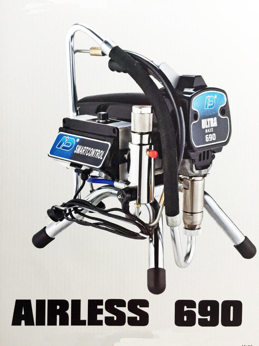 Elétrica da Pintura do Pistão do Pulverizador da Pintura de Profesional 690 com Motor sem Escova Máquina Ventilada Ultra Mal