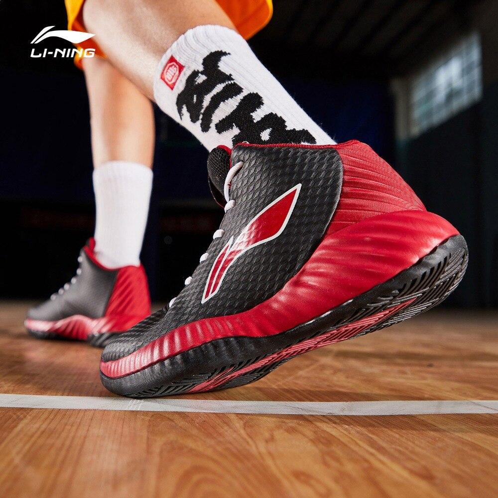 Мужские баскетбольные кроссовки Li-Ning, баскетбольные кроссовки с подкладкой средней высоты, кроссовки ABPP005 XYL229