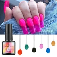 1bottle 8ml translucent acrylic jelly glass candy gel 6colors summer attribute lively color uv nail gel polish