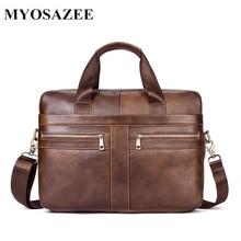 European and American Business Men's Briefcase Genuine Leather Men Bag Large Capacity Male Handbag Shoulder Bags