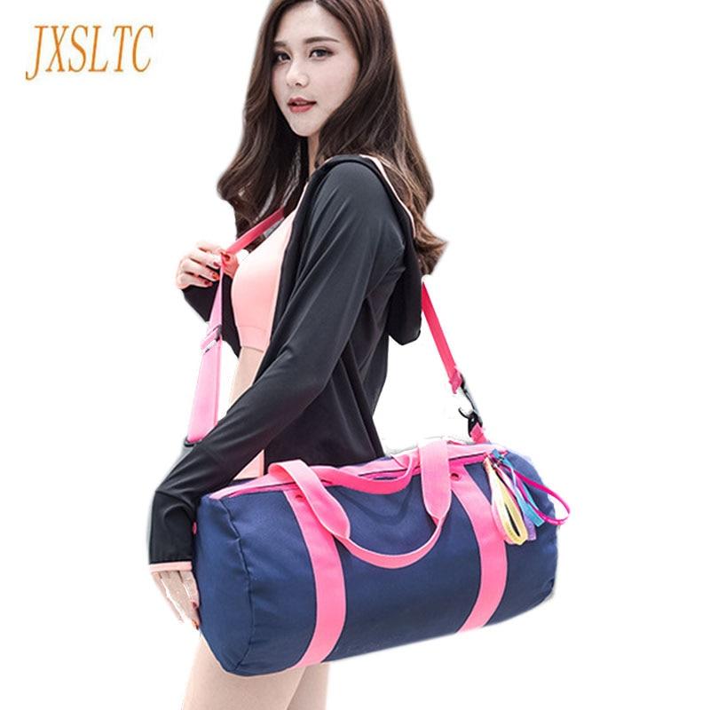 Fashion Women Travel Bag Large Capacity Nylon Duffle Handbag Weekend Travel Tote Bags workout dry wet separation Trekking bag