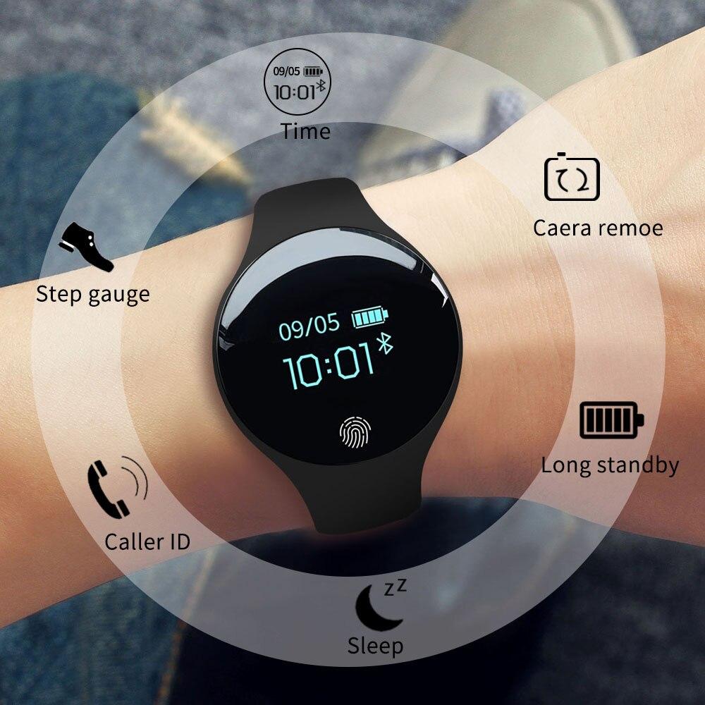 Inteligente para Ios Masculino e Feminino Pulseira de Fitness Sanda Bluetooth Relógio Android Esportes Pedômetro Digital