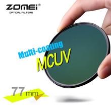 ZOMEI véritable 77mm PRO II MCUV multi-enduit MC filtre en verre optique filtre pour Canon NIkon Hoya Sony DSLR objectif de lappareil photo 77mm