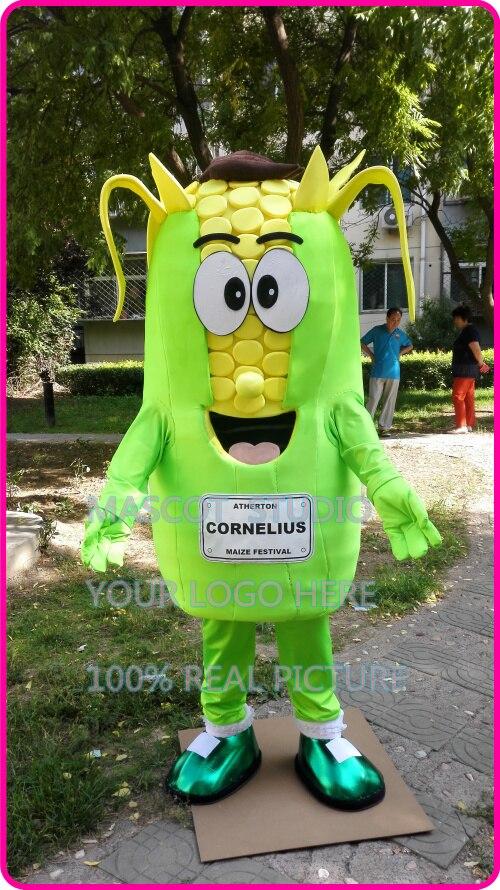 Mascota maíz mascota traje de maíz personalizado tamaño adulto personaje de dibujos animados cosplay disfraz de Carnaval 41236