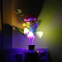 Lampe LED avec capteur fleur de prunier  220V  prise US  luminaire decoratif dinterieur  romantique