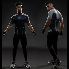 TUNSECHY-chemise de Compression, dessin animé Captain America, super hero, Captain America Iron man, t-shirt serré Bodybuilding