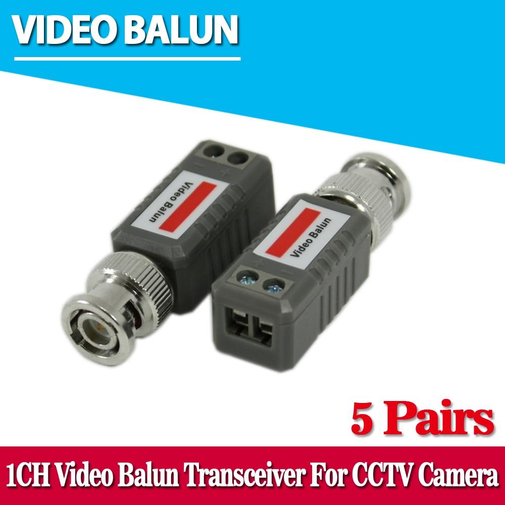 Пассивные приемопередатчики Balun, 10 шт., радиус действия 2000 футов, кабель UTP Balun BNC, Cat5, система видеонаблюдения UTP, видео Balun
