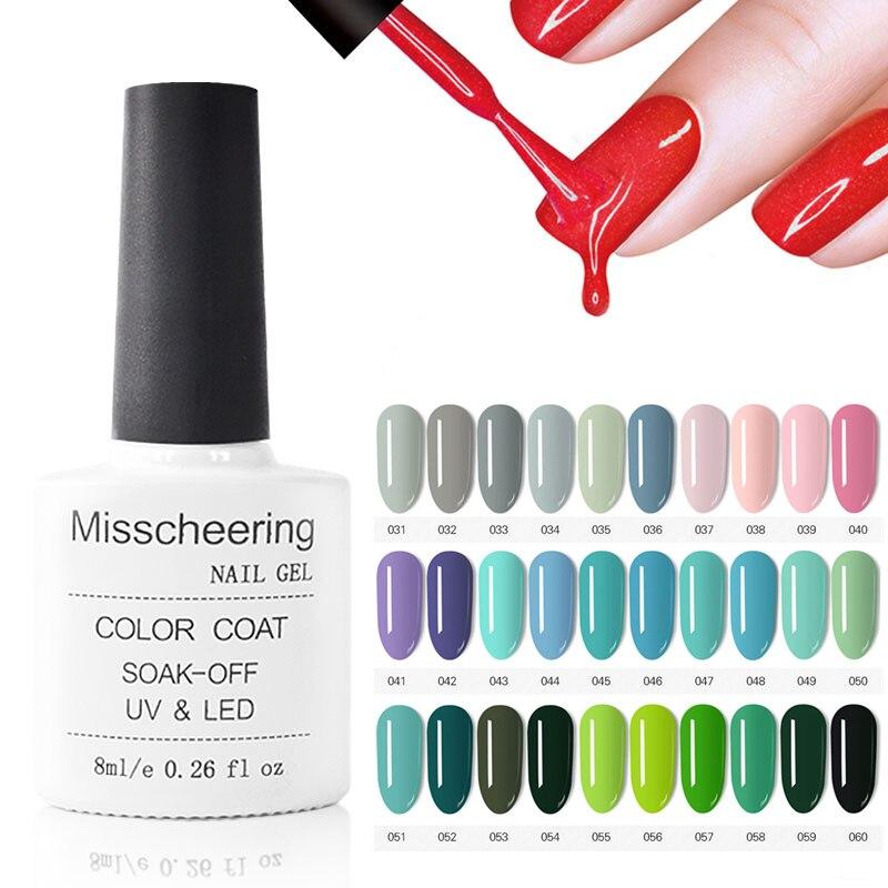 Garrafa 31-60 1 90 8 ml UV Gel Unha Polonês cores Verniz Nail Art Verniz Brilhante Semi Permanente embeber Off Verniz Base/Top Coat