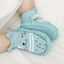 Chaussettes antidérapantes pour nouveau-né 0-24 mois   Chaussures pour bébé garçon, semelle souple, confortables, intérieur, maison bébé mocassin, animaux chouette Fox