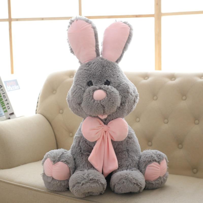 70cm Cute Costco American Big Rabbit Stuffed Dolls Plush Toy America Rabbit Animal with Long Ears Toys for Children