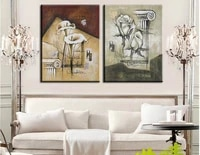 modern fashion abstract oil painting on canvas hand painted rose retro landscape paintings no frame