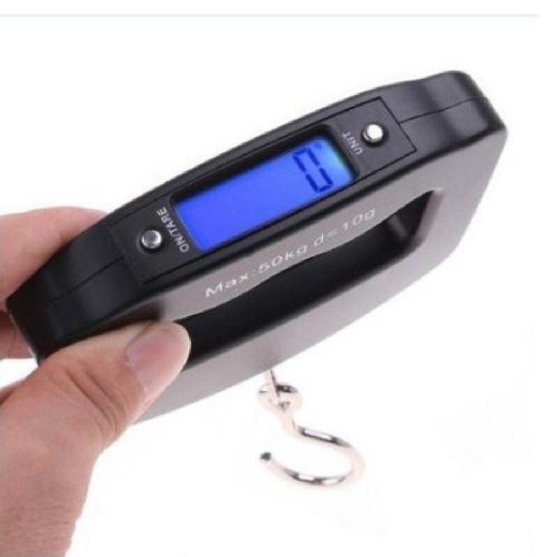 Balanza balanza para maleta bolsa de viaje equipaje pesa Digital Mini Balanza de pesca electrónica gancho colgante